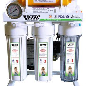 بهترین دستگاه تصفیه آب خانگی زیر سینکی پایه دار و گیج دار VETEC